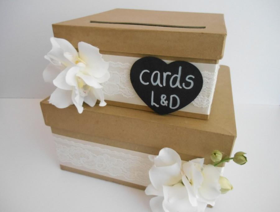 Rustic Wedding Card Box Custom Made To Order Beach