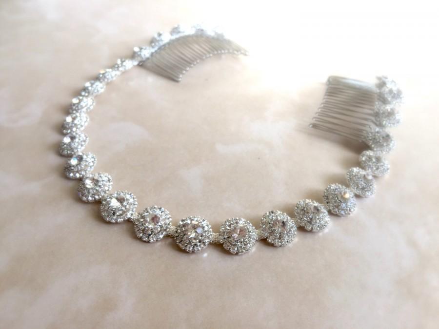 Mariage - Rhinestone Bridal Headpiece, Crystal Hair Tiara, Bridal Headband, Wedding Headband, Wedding Hair Tiara, Prom Headband