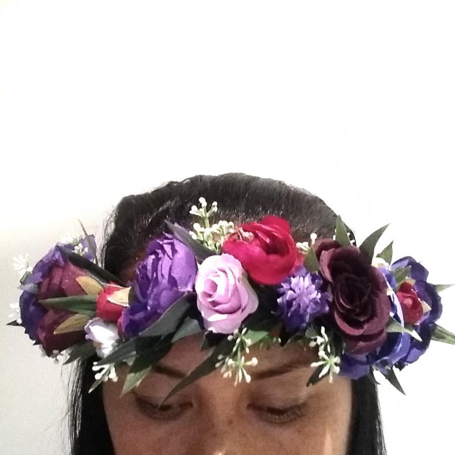 Свадьба - I love.. Imperial purple flower crown