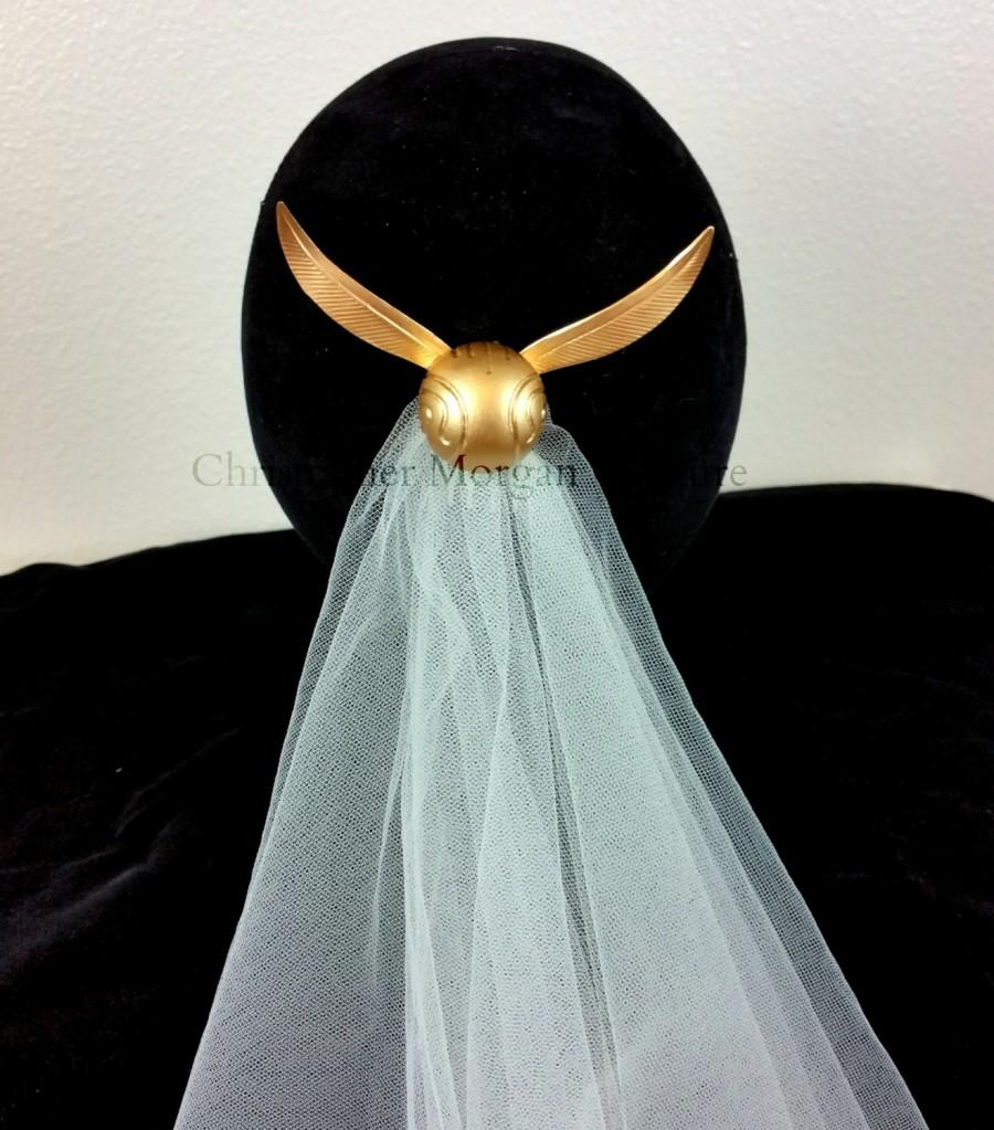 Свадьба - Harry Potter Golden Snitch Hair Comb