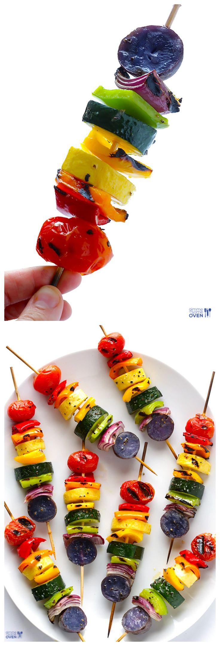 Wedding - Rainbow Veggie Skewers
