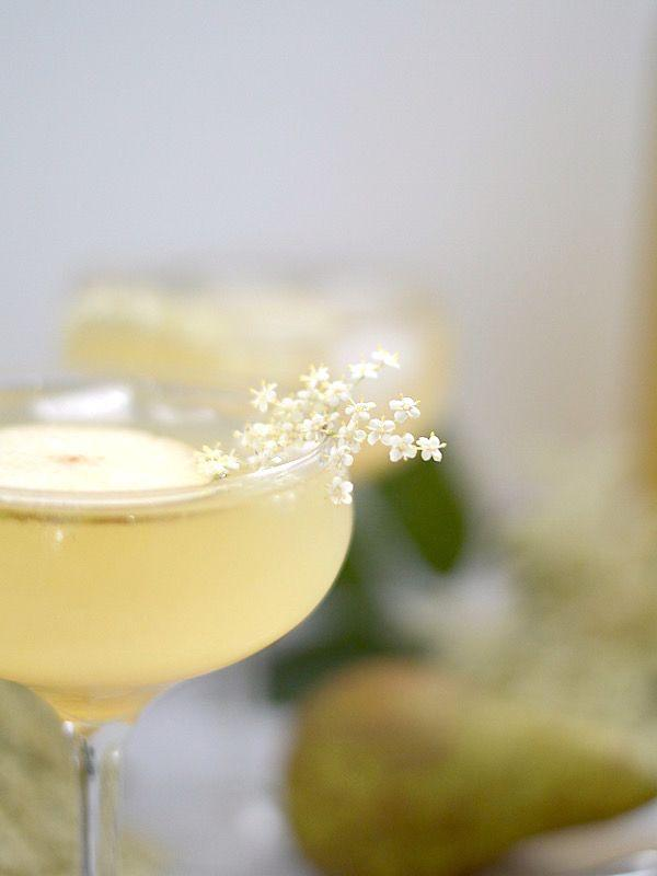 Wedding - Elderflower Syrup, Vanilla Pear Champagne Cocktail