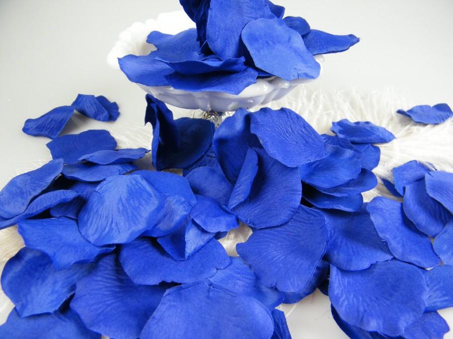 Hochzeit - Petals Royal Blue Cobalt Rose Flower Petals - Artificial - Little Prince Party - Flower Girl Petals - Table Scatter - Floral Craft 200pcs
