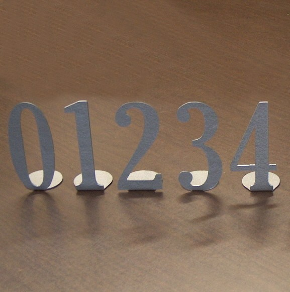 Hochzeit - Metal Art Table Numbers Single Digit - Free USA Shipping