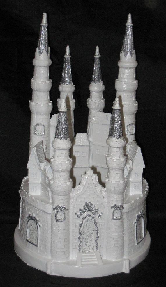 Hochzeit - Lighted Cinderella Castle Fairy Tale Cake Topper Cake Top. Your Choice Of Accent Color