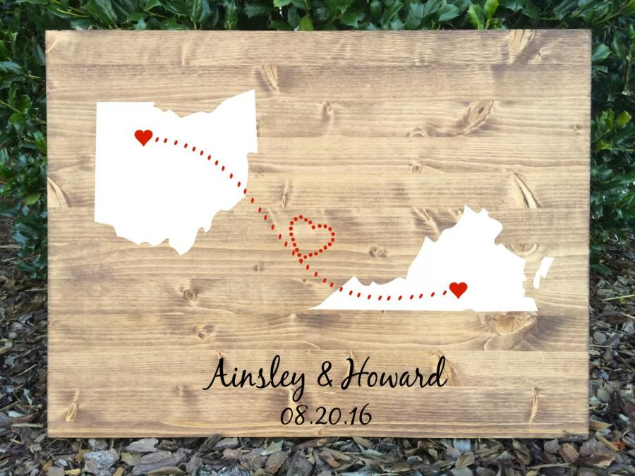 Mariage - Rustic Wedding Guest Book, Guest Book Alternative, Wood Wedding Sign, State Wood Sign, Rustic Guest Book Alternative