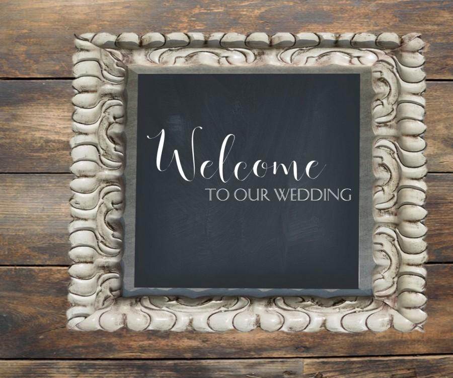 Hochzeit - Welcome to Our Wedding Decal // Wedding Decor  // Ceremony // Custom  // Bridal Shower // DIY Wedding