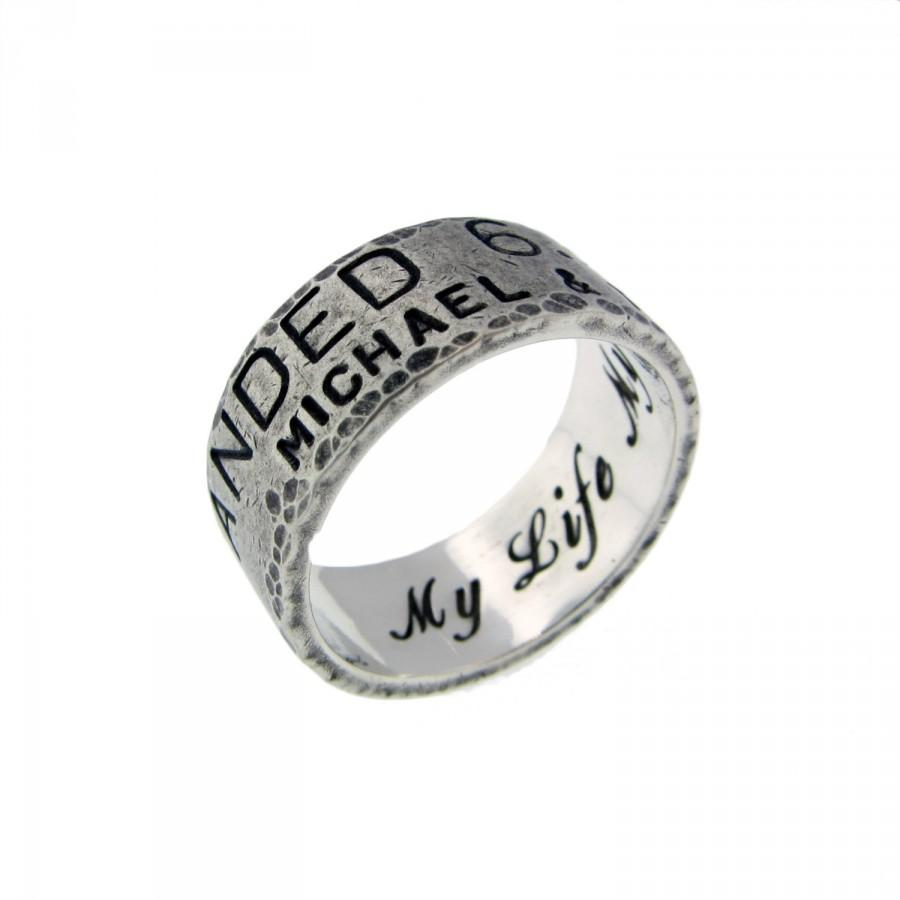 Personalized Silver Band Rings