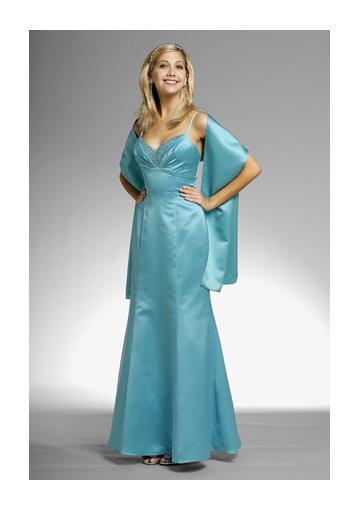 Hochzeit - Shawl Satin Spaghetti Straps Blue Sleeveless Ruched Floor Length