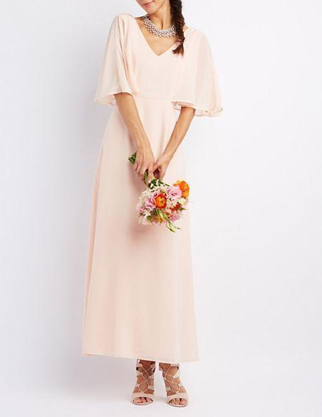 Mariage - Flutter Sleeve Maxi Dress