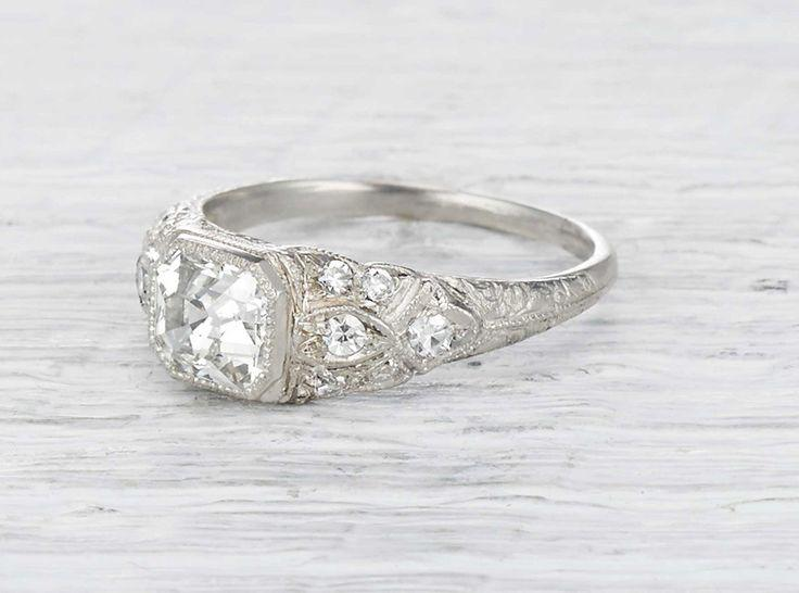 Mariage - 1.21 Carat Edwardian Engagement Ring …