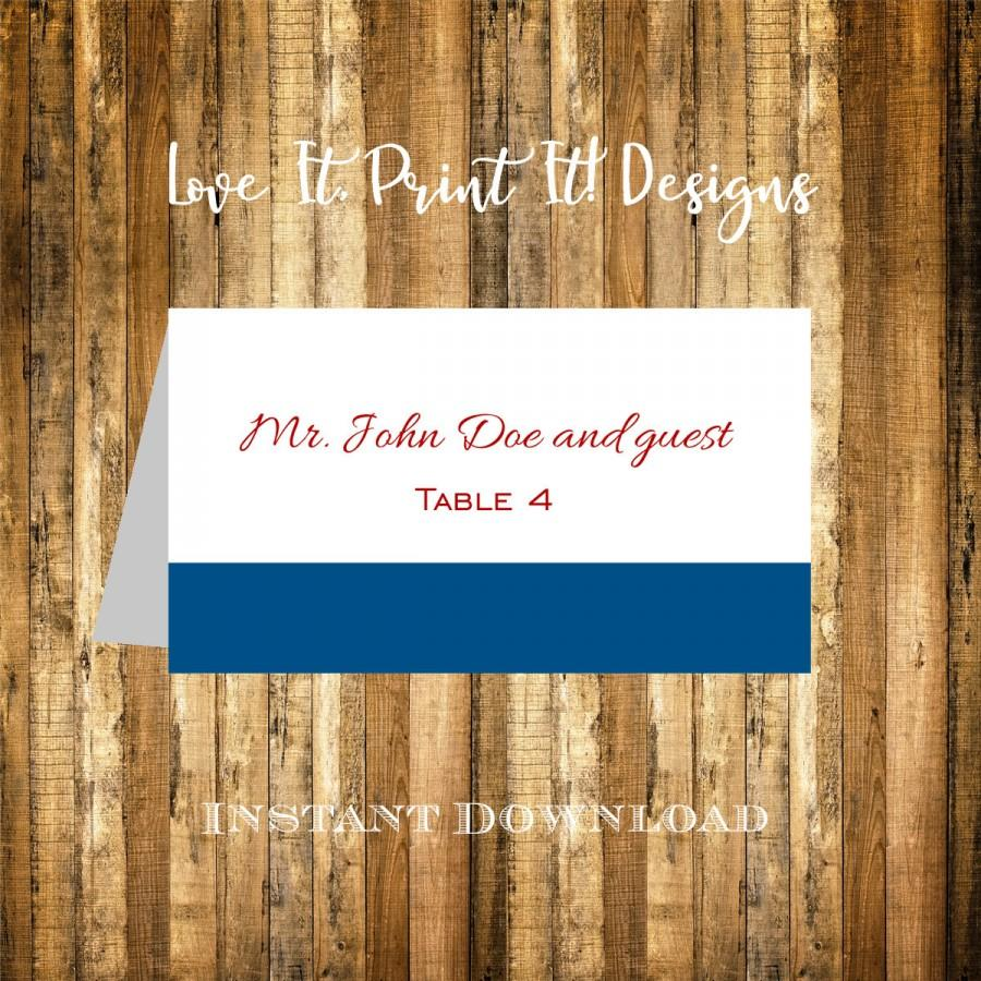 wedding place card diy template instant download classic border band