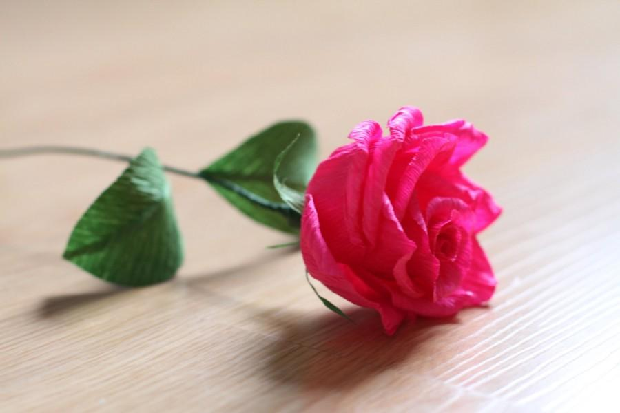Свадьба - 12 Roses _ Crepe paper roses- wedding decoration- pink roses- house decoration- paper rose-paper flowers