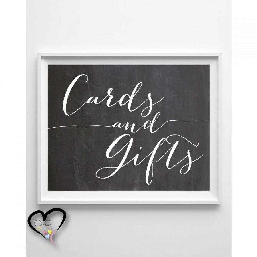 Wedding - Cards and Gifts Wedding Sign. Chalkboard Cards and Gifts. Wedding Sign. Chalkboard Wedding. Cards and GIfts. 5x7. 8x10.