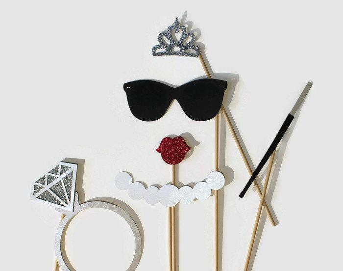 Mariage - Wedding Photobooth Props Bridal Shower Photo Booth