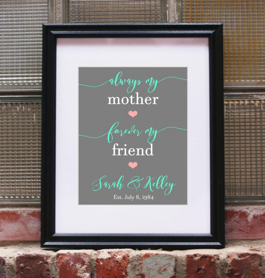 Mothers Day From Daughter Mother Of The Bride Gift Mom Gifts Art
