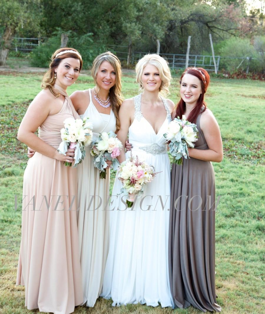 Bridesmaid dress infinity bridesmaids dress taupe color bridesmaid dress infinity bridesmaids dress taupe color convertible bridesmaids dressone dress endless styles 50 colors ivory ombrellifo Choice Image