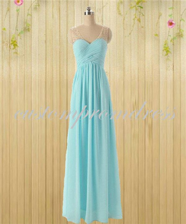 Light blue lace up long prom dresses sweetheart prom dress for Light blue lace wedding dress