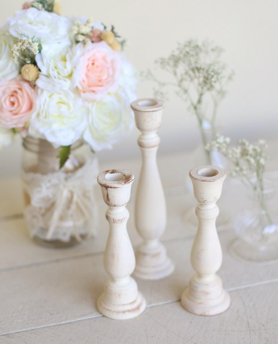 Rustic Chic Candle Holders Country Barn Wedding Centerpieces By ...