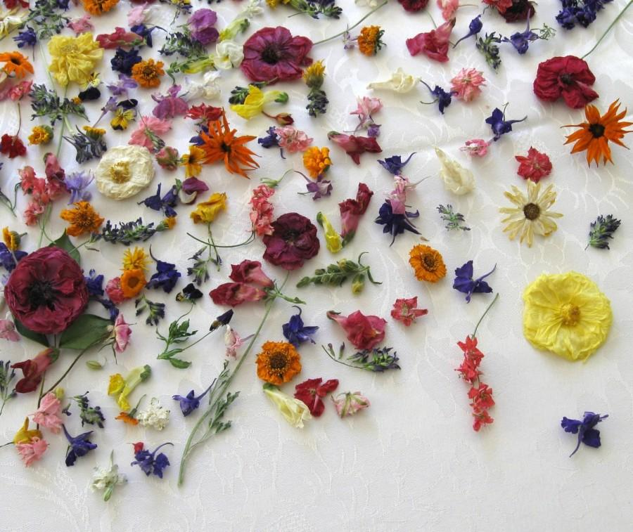 Dried Flowers, Wedding Confetti, Centerpieces, Real, Bridal, Table ...