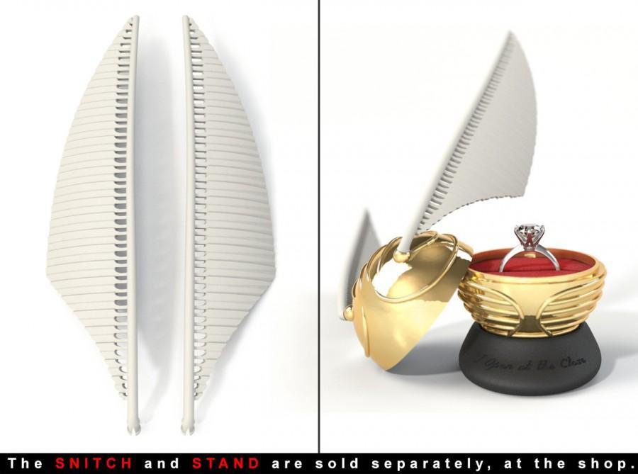 "زفاف - WINGS - To the ""Snitch Harry Potter Ring/Jewel Box"""