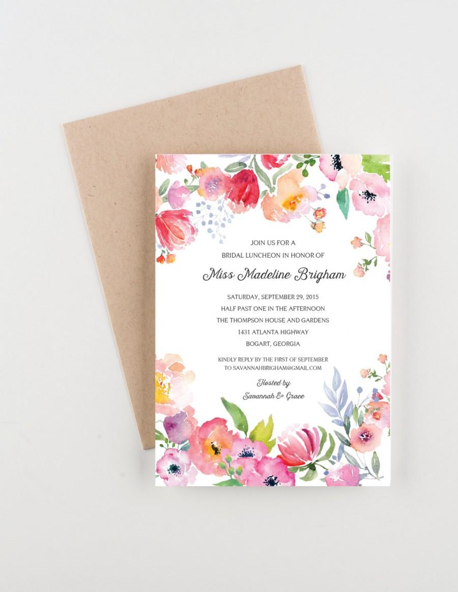 boho botanical garden bridal luncheon invitation bridal shower save the date or wedding announcement