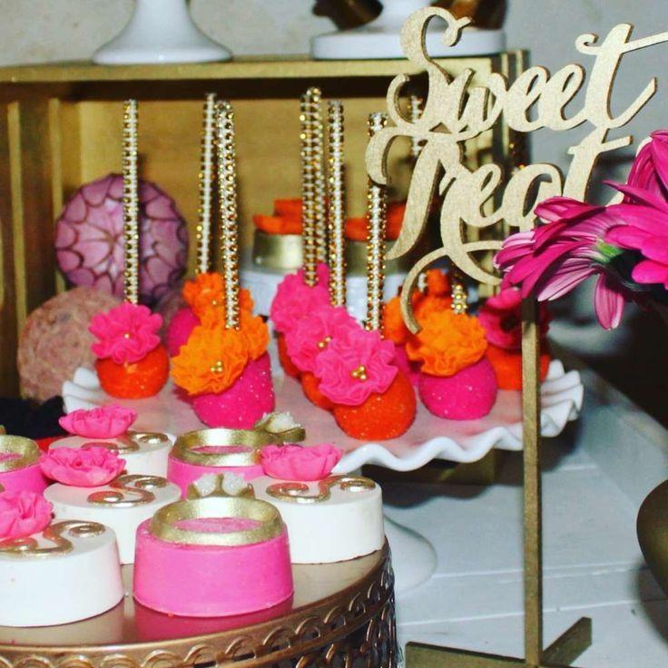 Gold Pink Orange Bridal/Wedding Shower Party Ideas #2524194 - Weddbook
