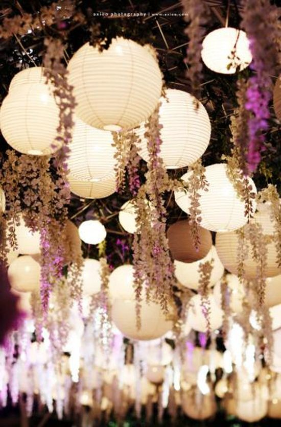 Round Paper Lantern 15 Led Light White 10x18 5x12 Wedding Deco
