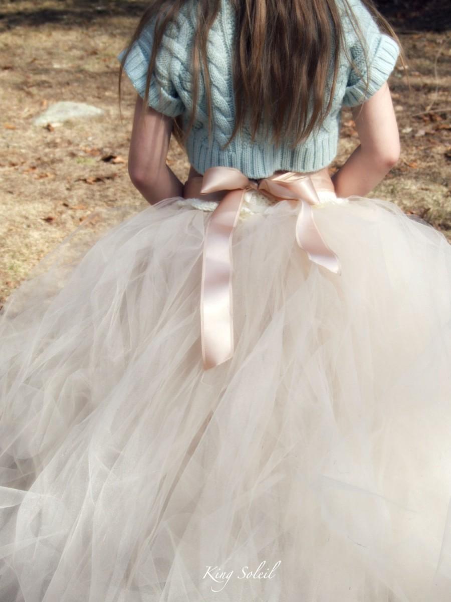 Wedding - Begonia Tulle Flower Girl Tutu Skirt