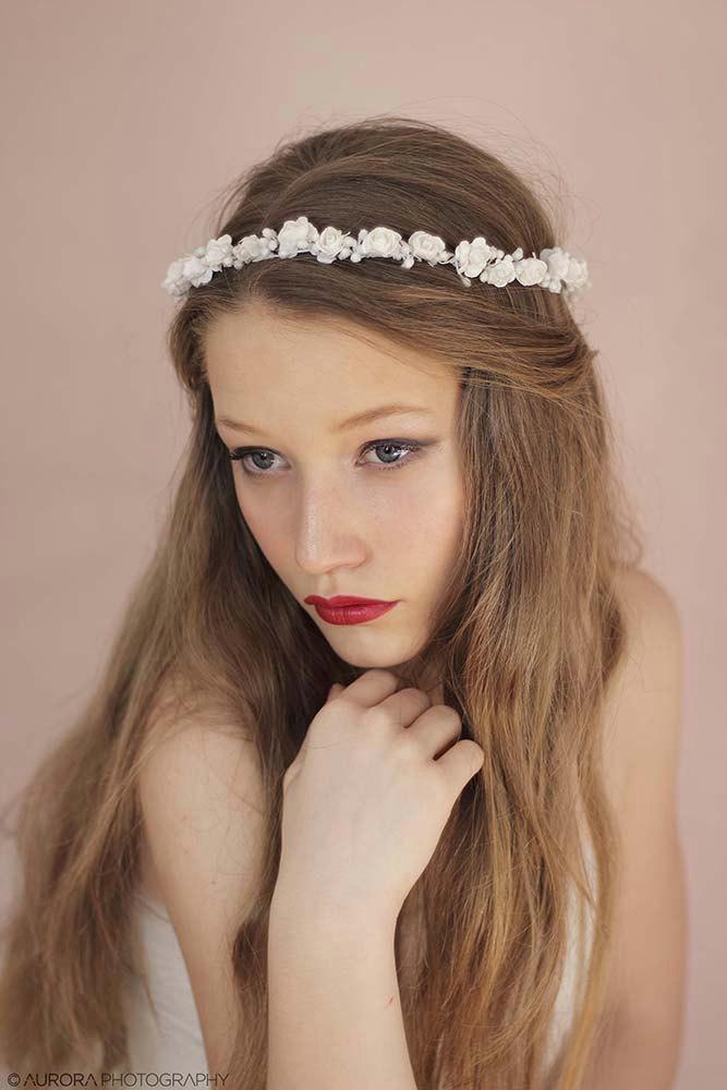 Bridal Hair Accessories Boho : Boho bridal flower crown crowns floral wedding hair