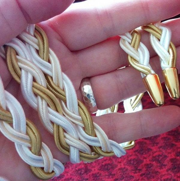 Mariage - CUSTOM Handbraided Handfasting Cord - you choose the colours!