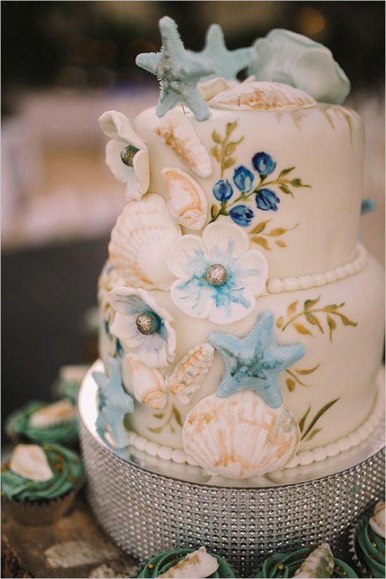 Cake Royal Blue Beach Wedding 2524402 Weddbook