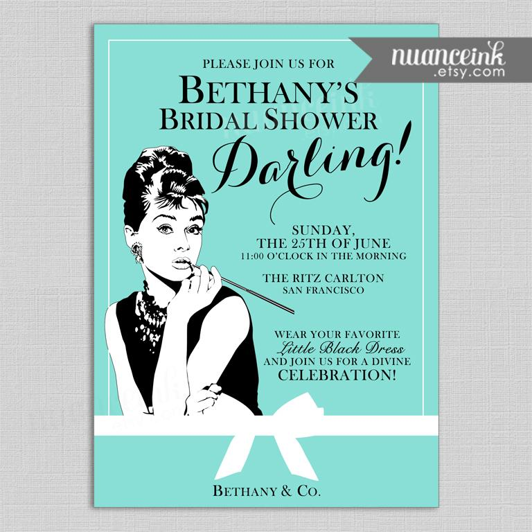 Mariage - Breakfast at Tiffany's Bridal Shower Invitations