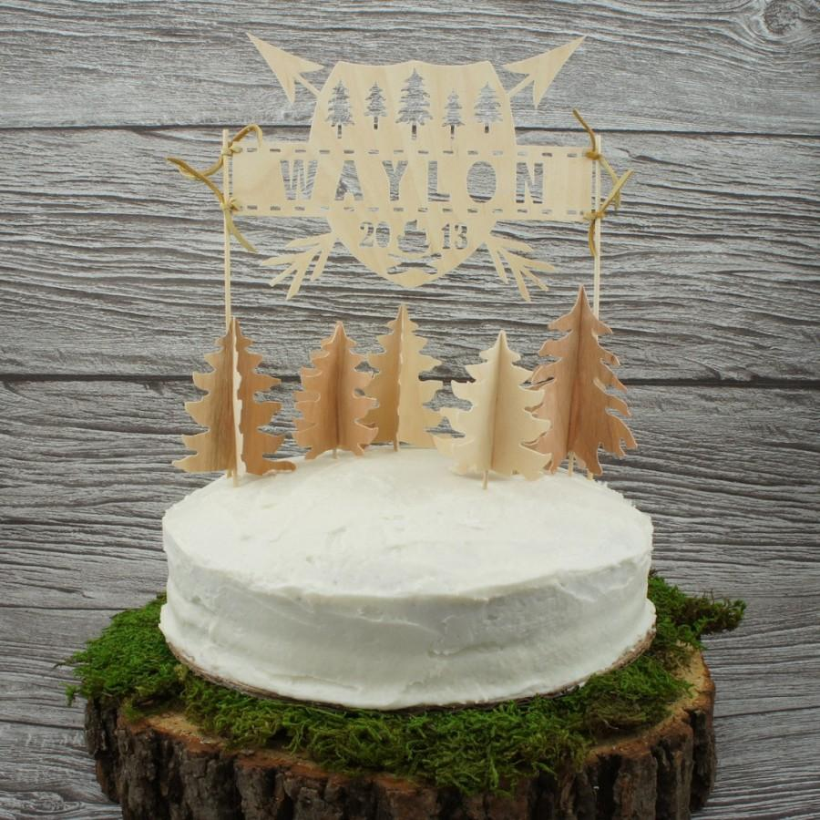 Свадьба - Personalized Wilderness Cake Topper