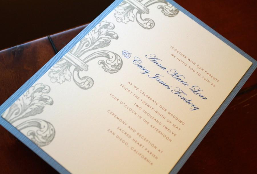 Wedding Invitations New Orleans: Fleur De Lis Invitations, Wedding Invitations, Custom