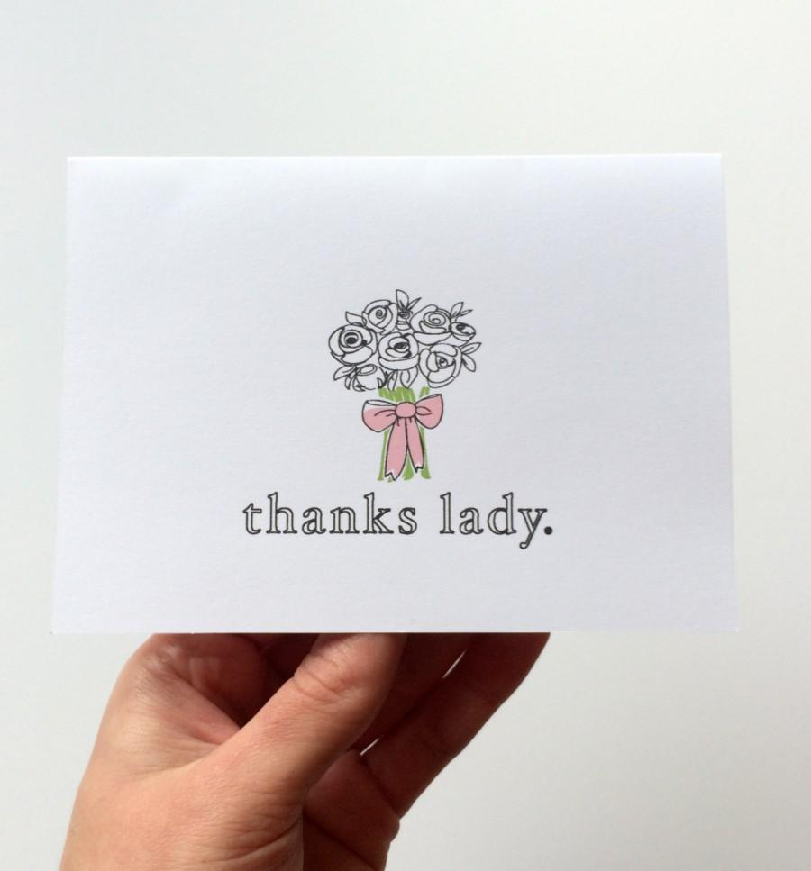 thank you bridesmaid card greeting card bridal party flower girl wedding party baby shower bridal shower