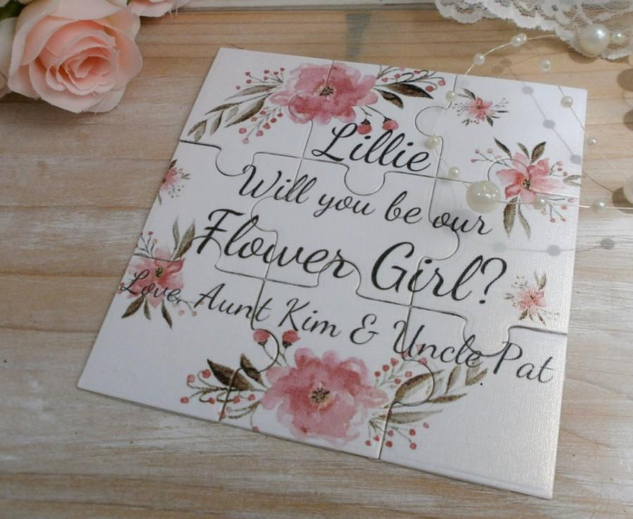 Hochzeit - Will you be my Bridesmaid Will You Be my Flower girl Bridesmaid proposal Junior Bridesmaid Will You Be our Flower girl Asking Bridesmaid