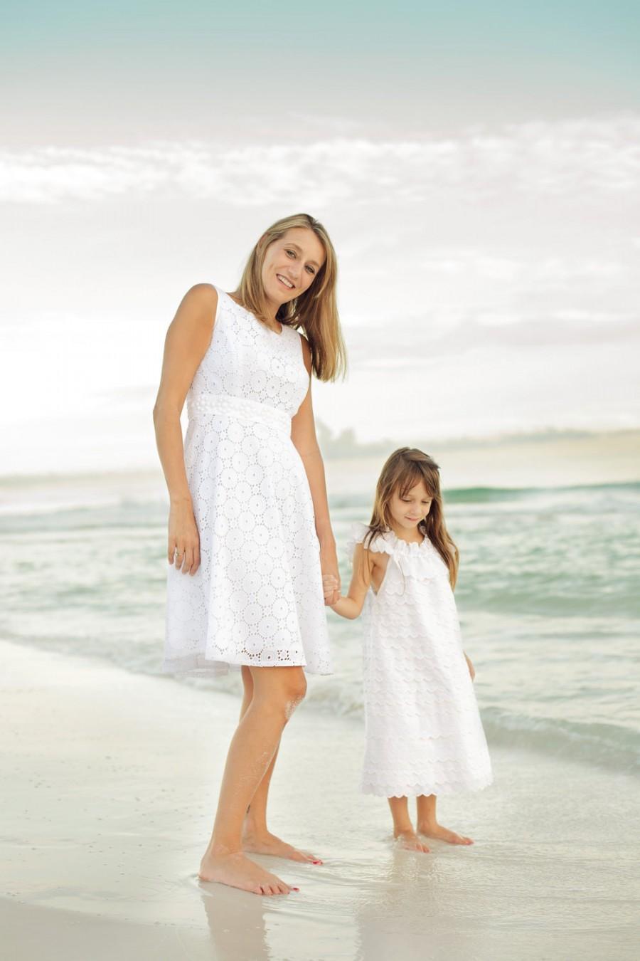 Infant Baby Flower Girl Peasant Pillowcase Dress Wedding Beach Portrait Photo White Layers Eyelet Lace Neck Ruffle Sizes 3 6 9 12 18 24 Mo