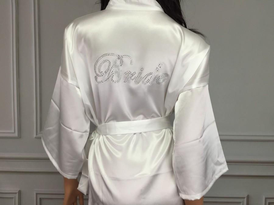 Свадьба - MANY COLORS, Bride Satin Robe, Bridesmaid Robes, Bride Satin Robe, Bridesmaid Robes, Wedding Robe, Maid of Honor Robe, Bridal Party Robes