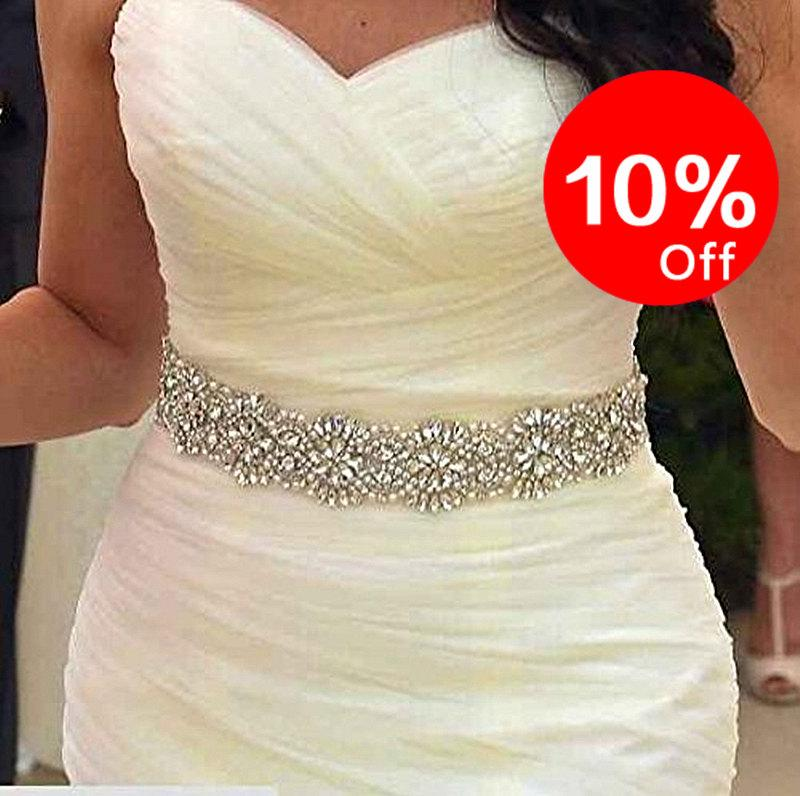 Sash wedding dress sash bridal sash rhinestone belt for christmas
