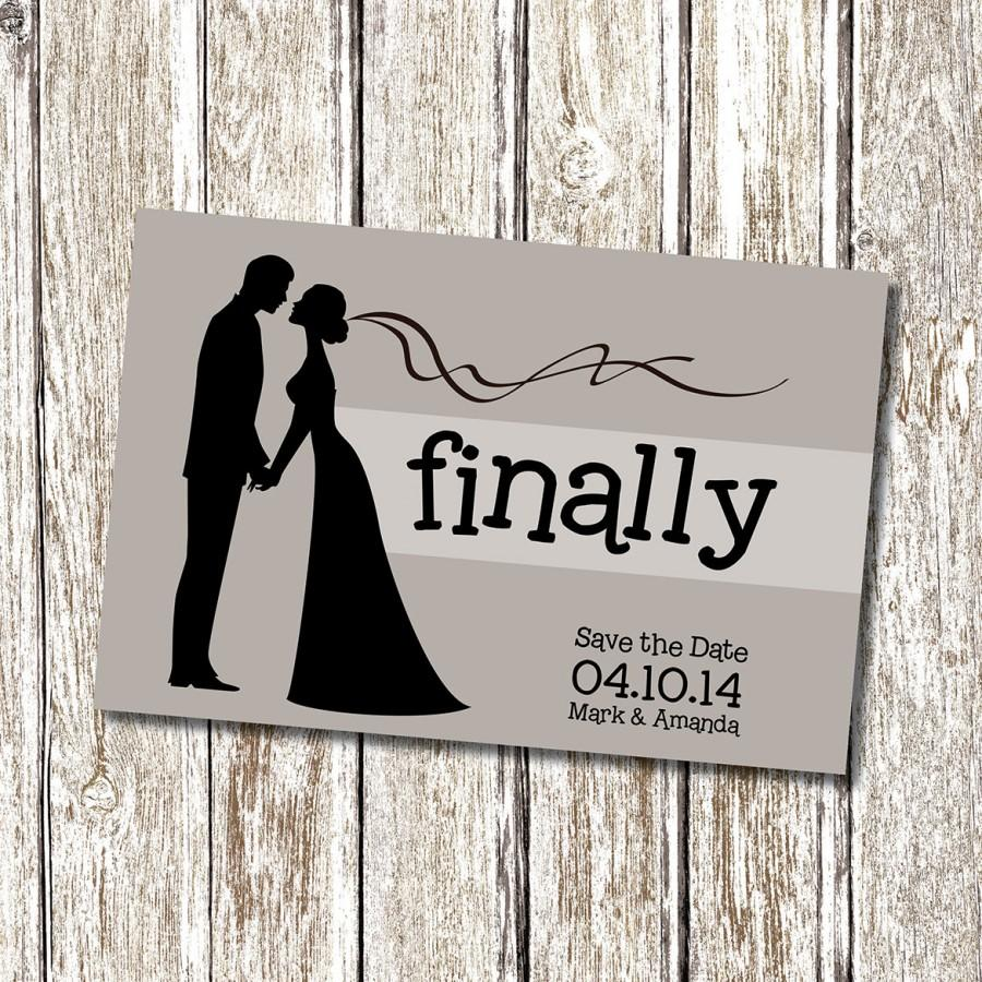 Свадьба - FINALLY - Save the Date - Printable and Personalised
