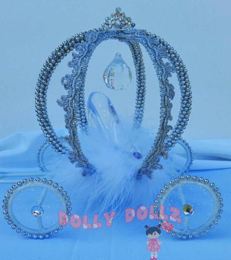 Disney Inspired Cinderella Carriage Cake Topper, Quinceanera Centerpiece, Decoration  Item, Princess Room Decor