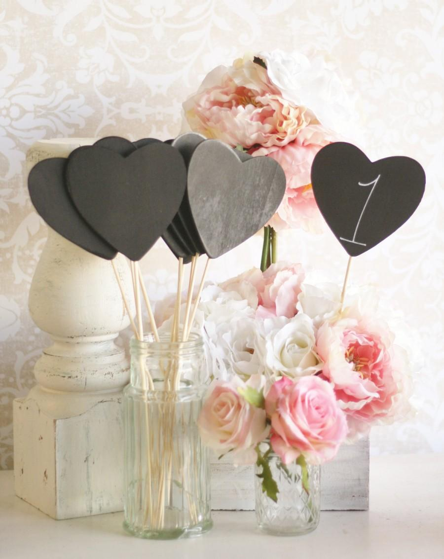 Mariage - Chalkboard Signs Table Numbers Rustic Wedding Decor SET of 12 (Item Number 140225)