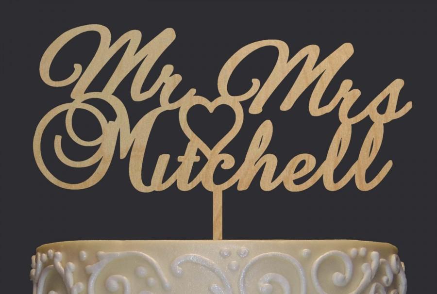 Wedding - Rustic Wedding Cake Topper - Personalized Monogram Cake Topper - Mr  Mrs Cake Topper - Keepsake Wedding Cake Topper
