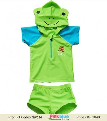 Wedding - Green Kids Frog Swimsuit for Summer