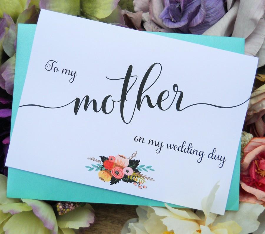 Wedding - To My MOTHER CARD, Wedding Party Cards, Mother of the Bride Card, Mother of the Bride Gift, Wedding Stationery, Wedding Thank You Cards