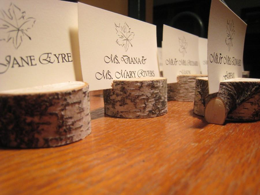 Wedding - Set of Twenty-Five (25) White Birch Place Card Holders