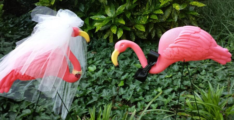 Wedding - Bride and Groom Flamingo Set