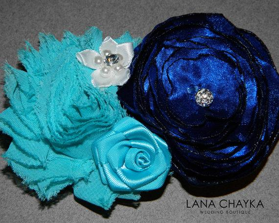 Flower Hair Clip Fascinator Navy Blue Ivory Small Fl Head Piece Wedding Clips Accessories