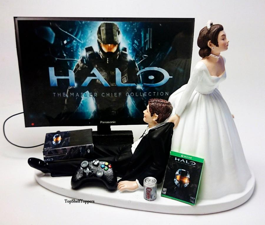 Wedding Cake Topper Video Game Custom Master Chief Xbox One 2525077